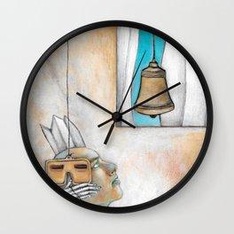 Stop Listen Look - Bell Wall Clock