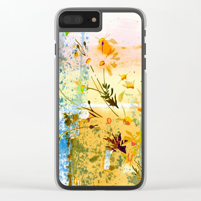 flowers at the beach Clear iPhone Case