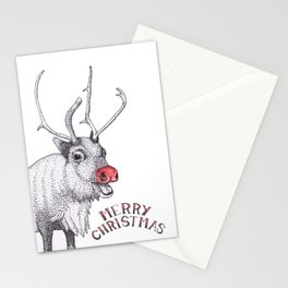 Rudolph Christmas Card Stationery Cards
