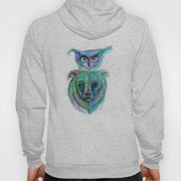 Owl and Bear Totem Hoody