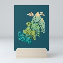 How to Build a Landscape : Blue Mini Art Print