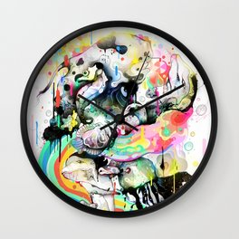 Ink Fight Colors Wall Clock