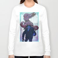 xmen Long Sleeve T-shirts featuring Xmen vs The Thing by ashurcollective
