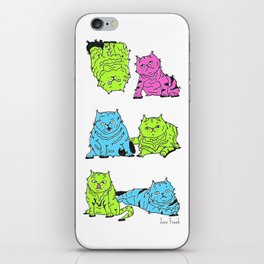 Fluro Cats iPhone Skin