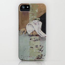 Woman in Black iPhone Case