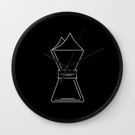 Chemex pictogram Wall Clock