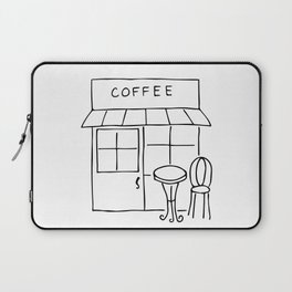 Little Coffee House // Cafe Sketch Laptop Sleeve
