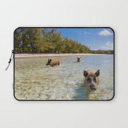 landscape with  pig in Bahamas Laptop Sleeve