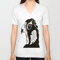 falcon V-neck T-shirts featuring Falcon by Maegan Ochse