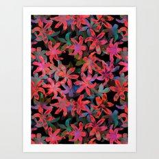 Tropical Serenade - Black Art Print