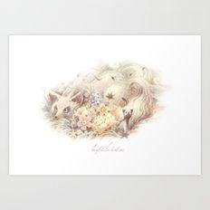 FOX Blossom Art Print