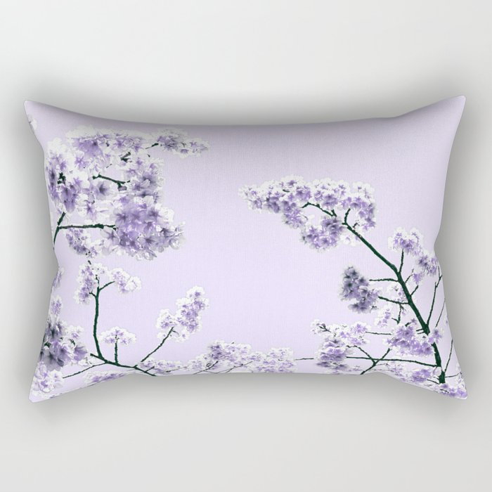 Spring Lavender Flowers Rectangular Pillow