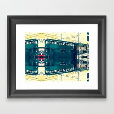 Tramway collage cityscape in Hong Kong Framed Art Print