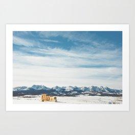 Winter in the Bridgers Art Print