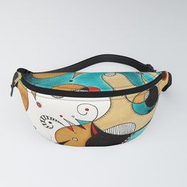 Abstract Tea Critters Fanny Pack