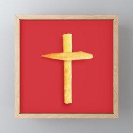 Fried Religion Framed Mini Art Print