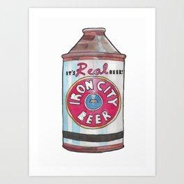 Vintage Beer 2 Art Print