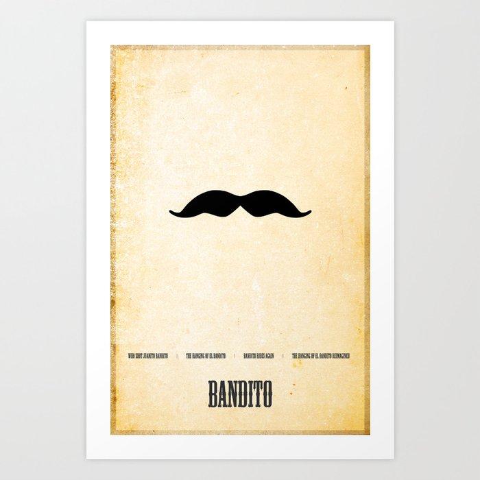 Bandito Minimalist! Art Print
