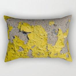 Yellow Peeling Paint on Concrete 2 Rectangular Pillow