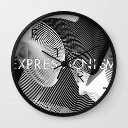 History of Art in Black and White. Expressionism Wall Clock