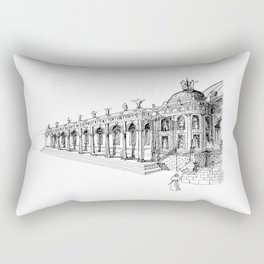 Temple . XVIII Century.  Rectangular Pillow