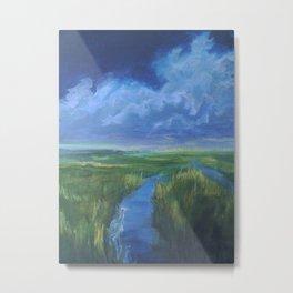Horizon Lights/detail/ Metal Print