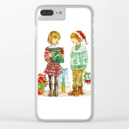 Pop Kids at Christmas Time vol.1 Clear iPhone Case