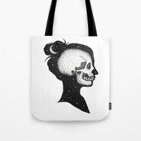 kieren walker Tote Bags featuring Cloud Walker by Black Neon