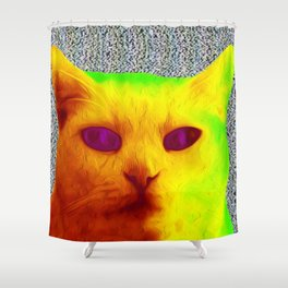 TV Cat Shower Curtain