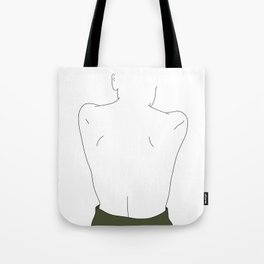 Womans back line drawing - Elly Tote Bag