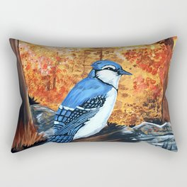 Blue Jay Life Rectangular Pillow