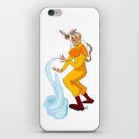 aang iPhone & iPod Skins featuring Aang And Momo by Van's Scribbles