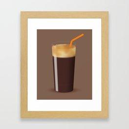 Shaken Not Stirred - Iced Coffee Illustration Framed Art Print