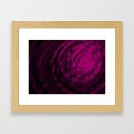 Organic Spiral - Purple Framed Art Print
