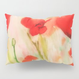 Poppies in a field Pillow Sham