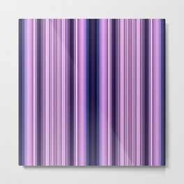 Purple/ pink stripes Metal Print