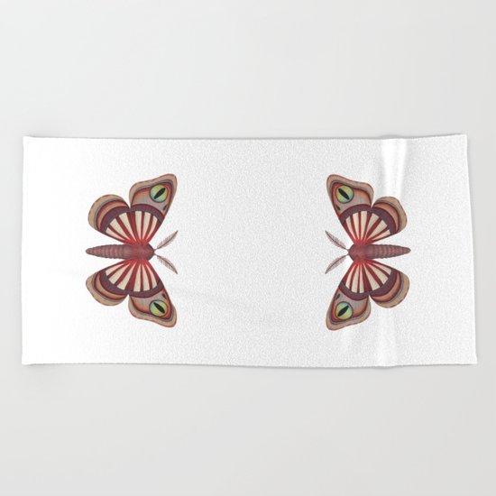 demon (made up moth) Beach Towel