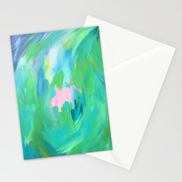 Abstract summer Stationery Cards