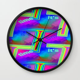 T - pattern 4 Wall Clock