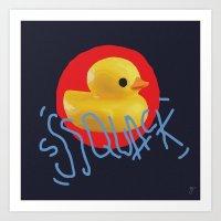 Squack! Art Print