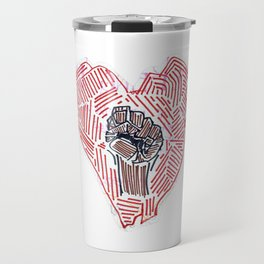 Untitled (Heart Fist) Travel Mug