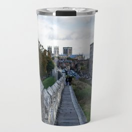 A walk along the wall Travel Mug