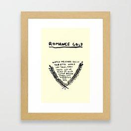ROMANCE GOLD #2 Framed Art Print