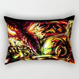 Metroid Metal: Ridley- Through the Fire.. Rectangular Pillow