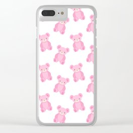 Pink Teddy Bears Clear iPhone Case
