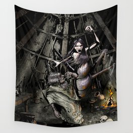 The Crone's Hut Wall Tapestry