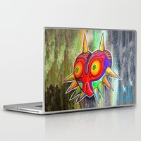 majora Laptop & iPad Skins featuring Majora mask by Lyxy