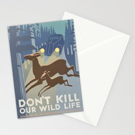 Don't Kill Our Wildlife - Progress Administration Federal Art Project Stationery Cards