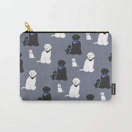 Labradoodle black and white Carry-All Pouch