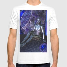 Shebot Karrisiel White Mens Fitted Tee MEDIUM